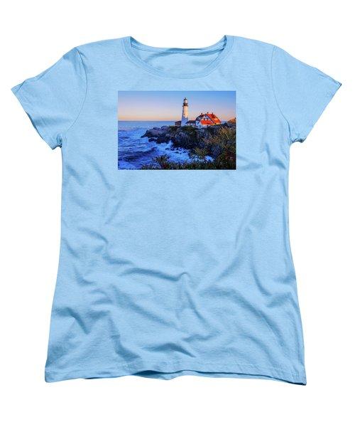 Portland Head Light II Women's T-Shirt (Standard Cut) by Chad Dutson