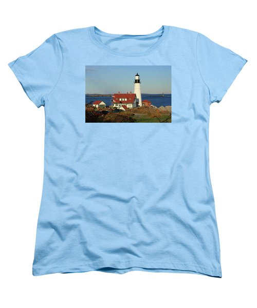 Portland Head Lighthouse 2 Women's T-Shirt (Standard Cut) by Lou Ford