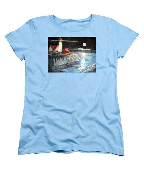 Portland Maine Twilight Women's T-Shirt (Standard Cut) by Bernadette Krupa