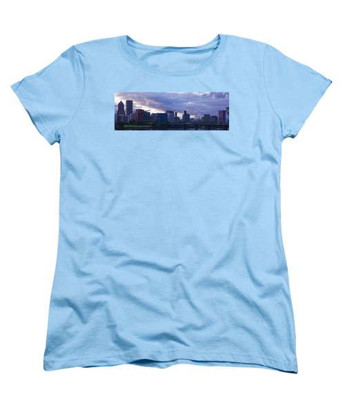 Portland Oregon Panorama Women's T-Shirt (Standard Cut) by Jonathan Davison