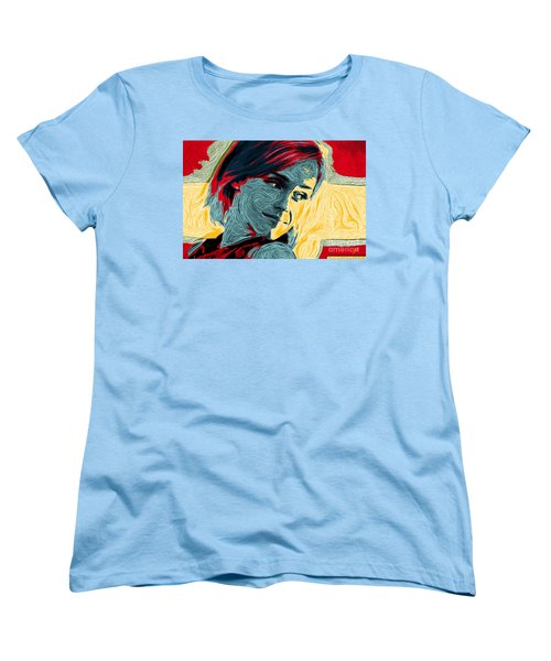 Portrait Of Emma Watson Women's T-Shirt (Standard Cut) by Zedi