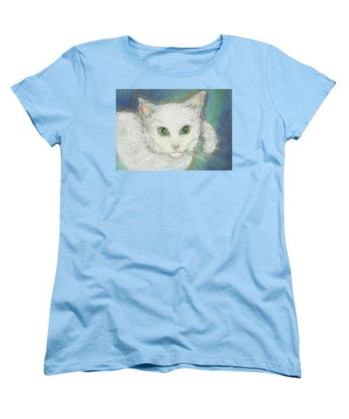 Portrait Of Misty Women's T-Shirt (Standard Cut) by Denise Fulmer