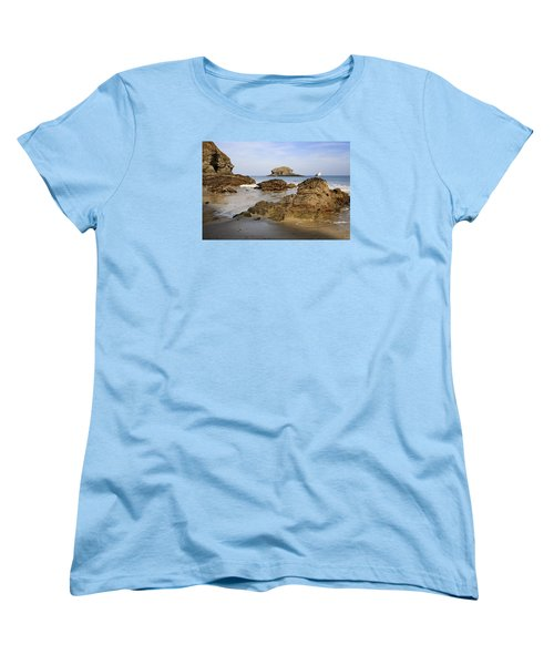 Women's T-Shirt (Standard Cut) featuring the photograph Portreath by Shirley Mitchell