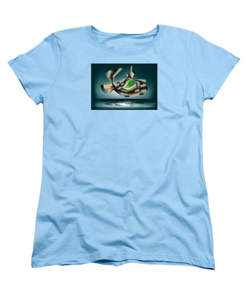 Women's T-Shirt (Standard Cut) featuring the digital art Position by Leo Symon