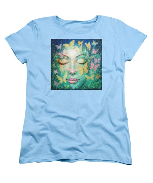 Women's T-Shirt (Standard Cut) featuring the painting Possibilities Meditation by Sue Halstenberg