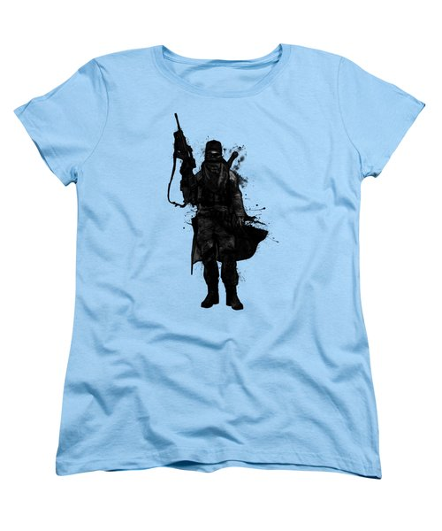 Women's T-Shirt (Standard Cut) featuring the digital art Post Apocalyptic Warrior by Nicklas Gustafsson