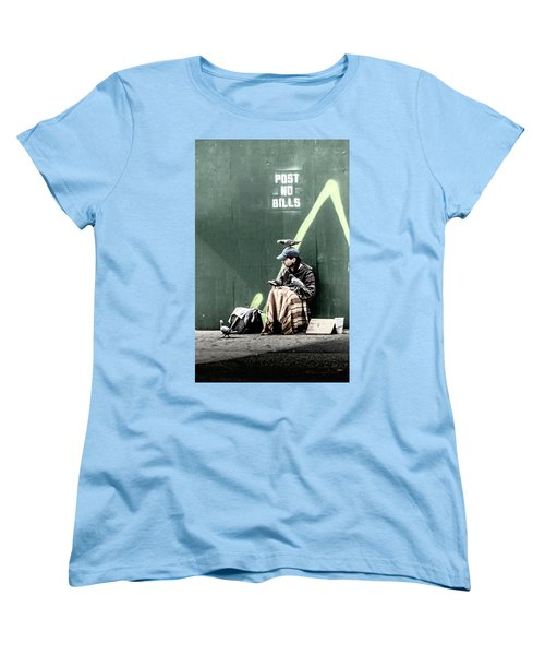 Women's T-Shirt (Standard Cut) featuring the photograph Post No Bills by Marvin Spates