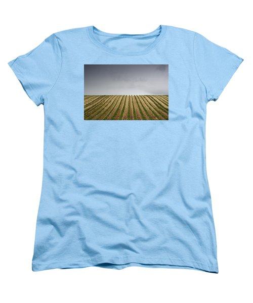 Potato Field Women's T-Shirt (Standard Cut) by John Short