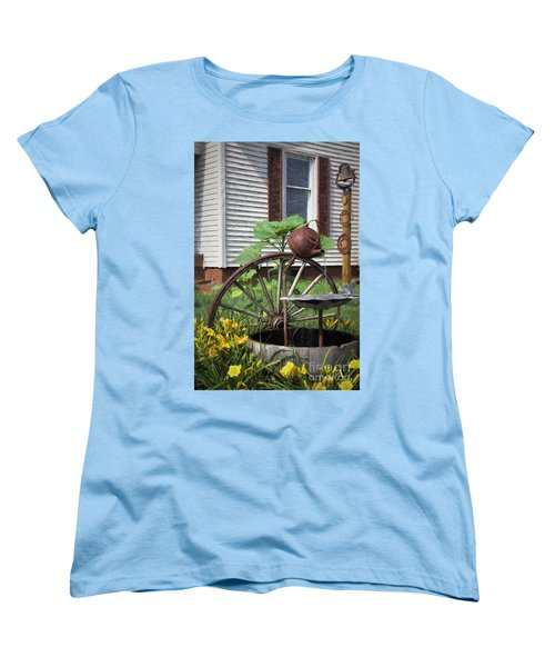 Women's T-Shirt (Standard Cut) featuring the photograph Pouring Out The Past by Benanne Stiens