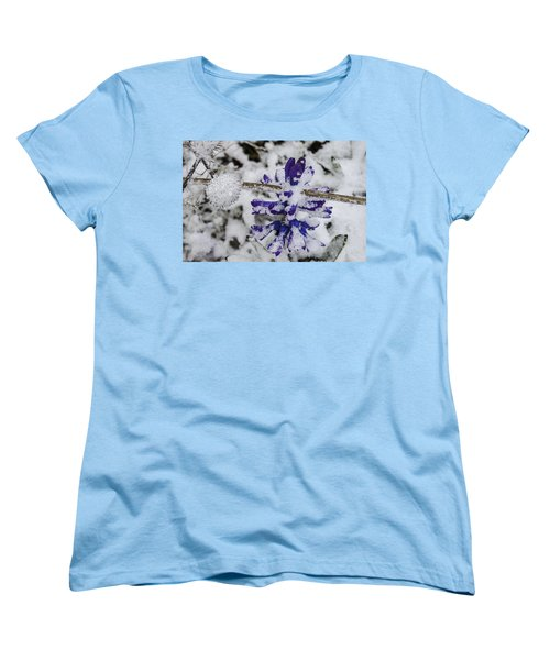 Powder-covered Hyacinth Women's T-Shirt (Standard Cut) by Deborah Smolinske