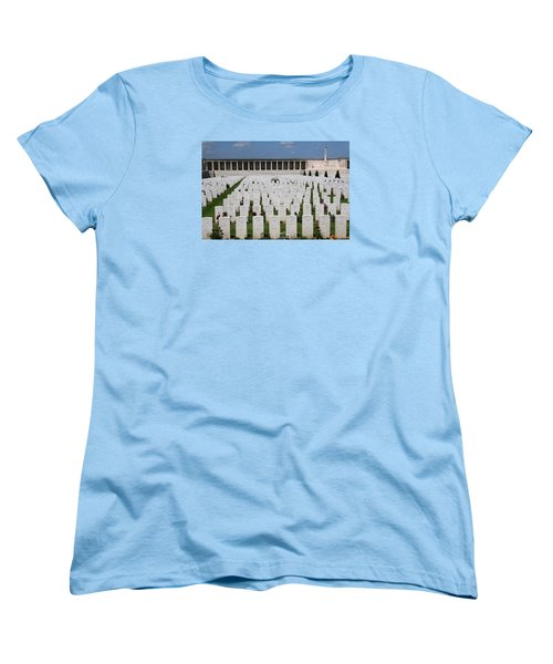 Women's T-Shirt (Standard Cut) featuring the photograph Pozieres British Cemetery by Travel Pics