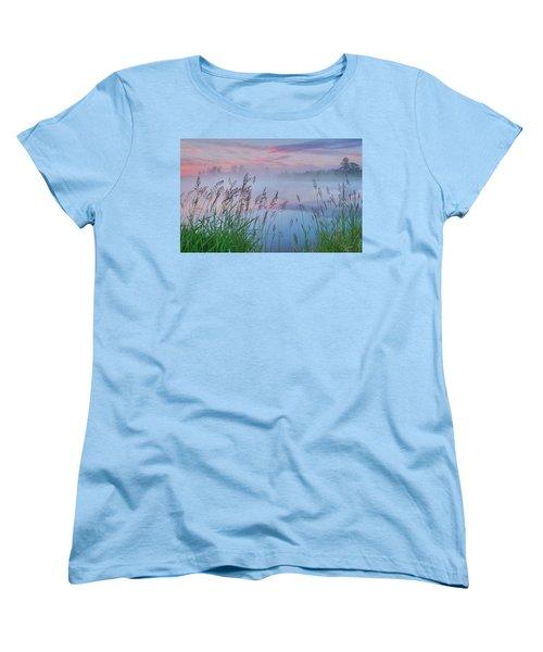 Women's T-Shirt (Standard Cut) featuring the photograph Prairie Pond Before Sunrise by Dan Jurak