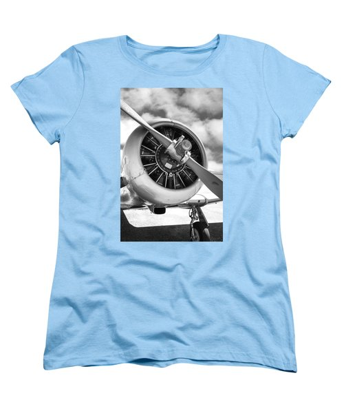 Pratt And Whitney R1340 Wasp Radial Engine Women's T-Shirt (Standard Cut) by Chris Smith