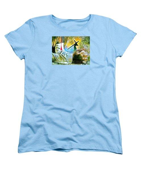 Prayer And The Blood Women's T-Shirt (Standard Cut)