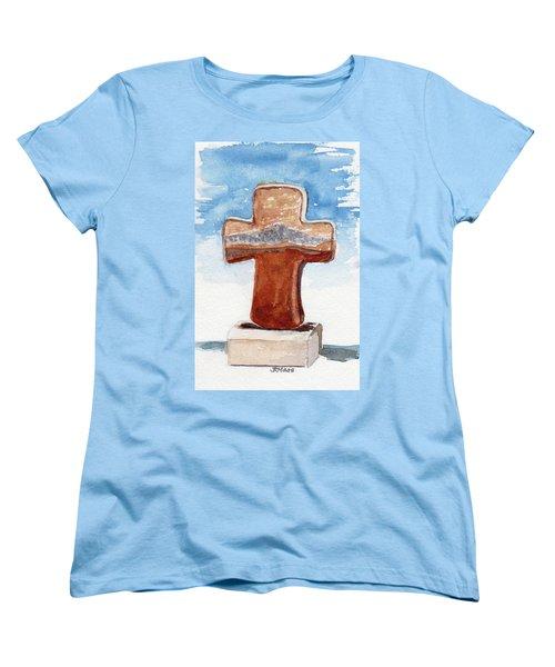 Prayer Cross Women's T-Shirt (Standard Cut)
