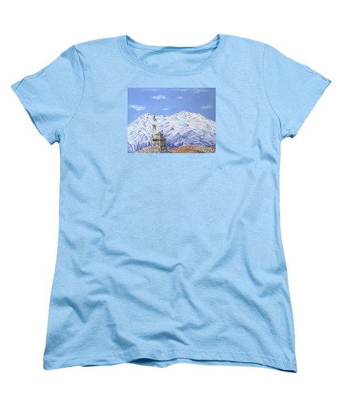 Women's T-Shirt (Standard Cut) featuring the painting Prayer Flag by Elizabeth Lock