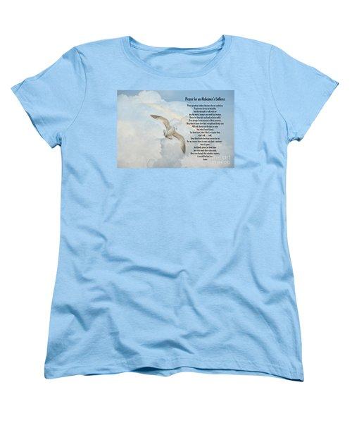 Prayer For An Alzheimer's Sufferer Women's T-Shirt (Standard Cut) by Bonnie Barry