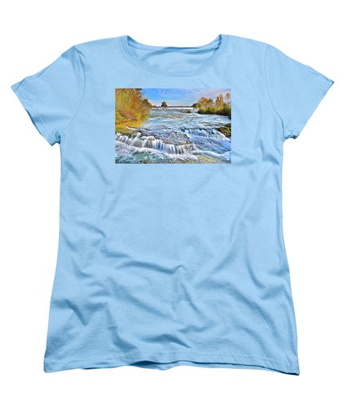 Women's T-Shirt (Standard Cut) featuring the photograph Preparing For The Big Fall by Frozen in Time Fine Art Photography
