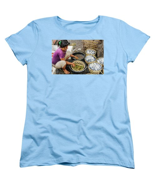 Preparing Pindang Tongkol Women's T-Shirt (Standard Cut) by Werner Padarin