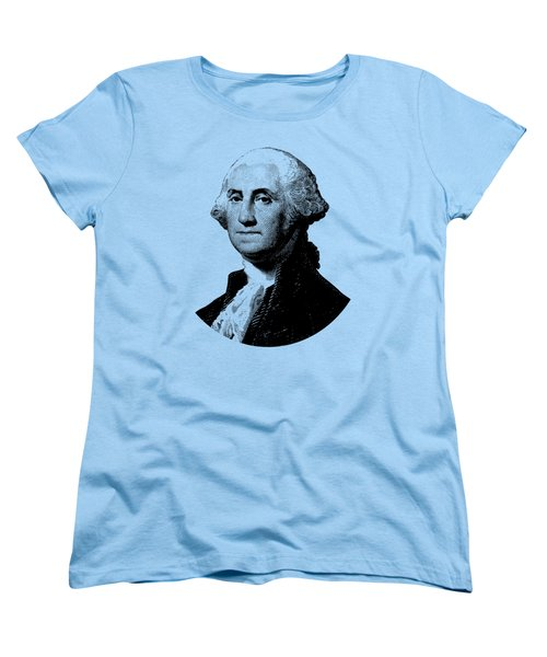 President George Washington Graphic - Black And White Women's T-Shirt (Standard Cut) by War Is Hell Store