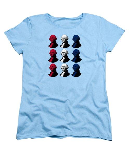 President George Washington - Red, White, And Blue  Women's T-Shirt (Standard Cut)