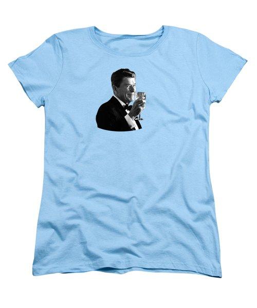 President Reagan Making A Toast Women's T-Shirt (Standard Cut)