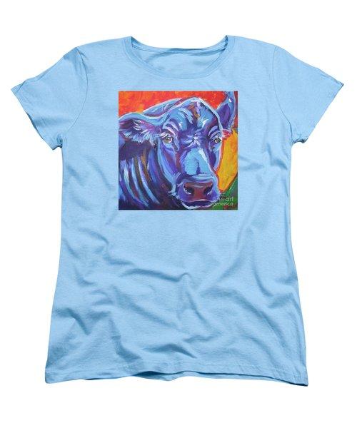 Pretty Face Cow Women's T-Shirt (Standard Cut) by Jenn Cunningham