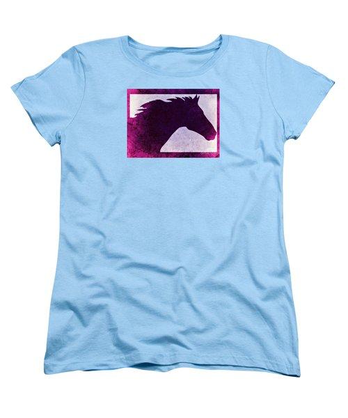 Pretty Purple Horse  Women's T-Shirt (Standard Cut)