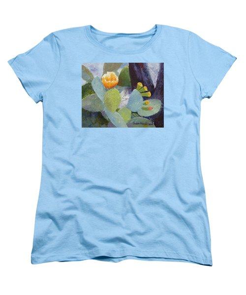 Prickly Pear In Bloom Women's T-Shirt (Standard Cut) by Susan Woodward