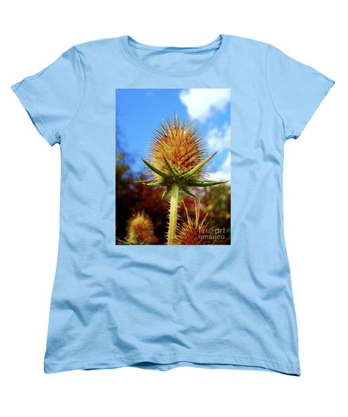 Women's T-Shirt (Standard Cut) featuring the photograph Prickly Thistle by Nina Ficur Feenan