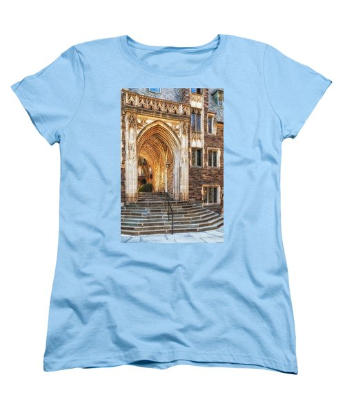 Women's T-Shirt (Standard Cut) featuring the photograph Princeton University Lockhart Hall Dorms by Susan Candelario