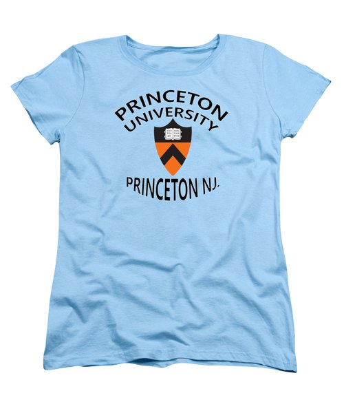 Women's T-Shirt (Standard Cut) featuring the digital art Princeton University Princeton N J by Movie Poster Prints