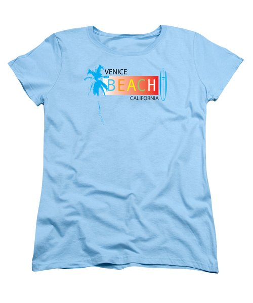 Venice Beach California T-shirts And More Women's T-Shirt (Standard Cut) by K D Graves
