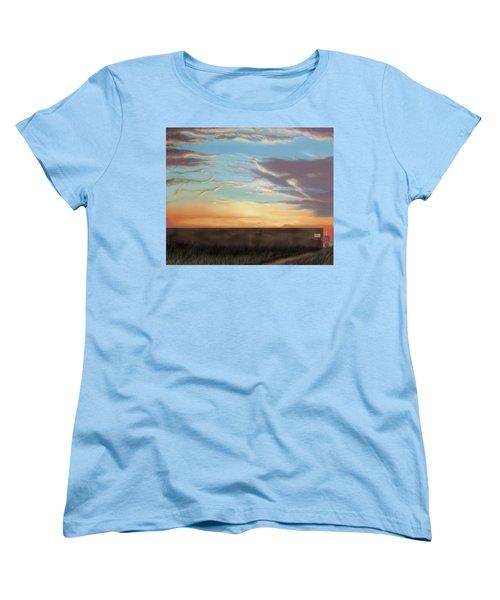 Private Sunrise.  Keep Out Women's T-Shirt (Standard Cut) by Albert Puskaric
