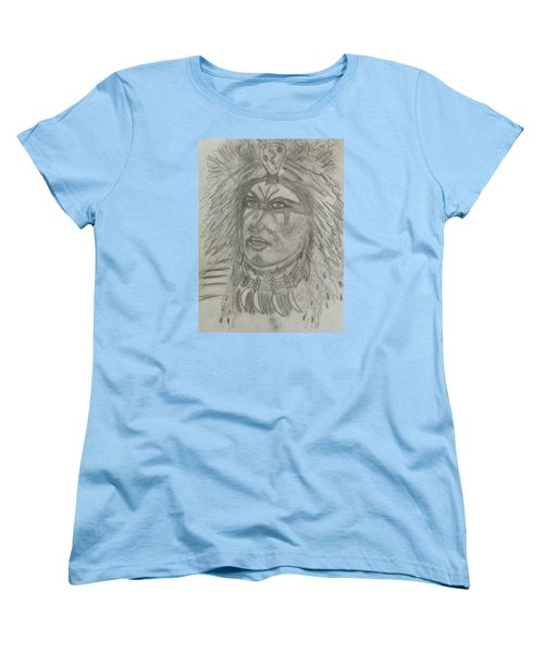 Women's T-Shirt (Standard Cut) featuring the drawing Proud Nation by Sharyn Winters
