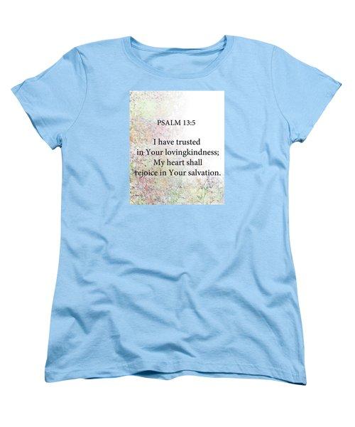 Women's T-Shirt (Standard Cut) featuring the digital art Psalm 13 5 by Trilby Cole