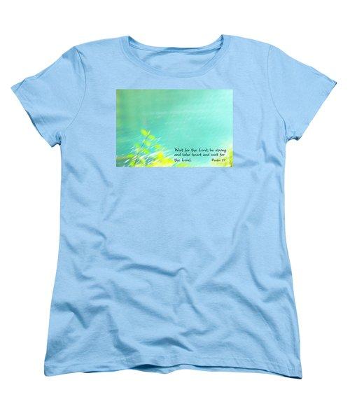 Psalm 27 Women's T-Shirt (Standard Cut) by Catherine Alfidi