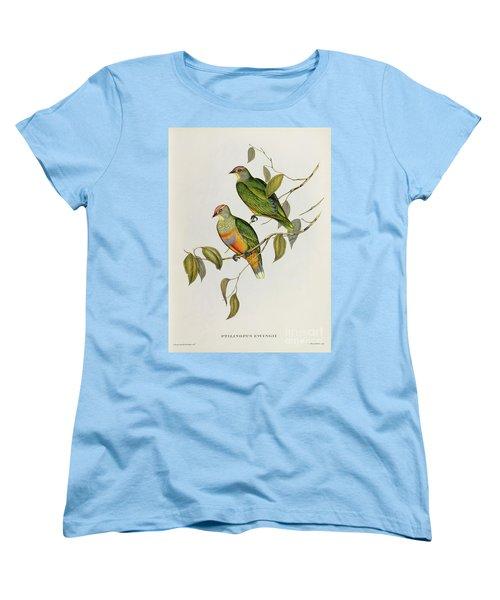 Ptilinopus Ewingii Women's T-Shirt (Standard Cut) by John Gould