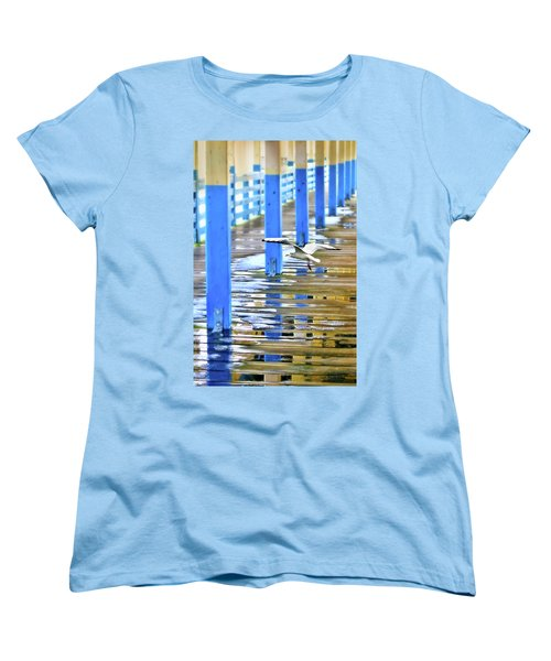 Women's T-Shirt (Standard Cut) featuring the photograph Puddles by Diana Angstadt