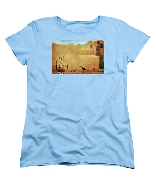 Women's T-Shirt (Standard Cut) featuring the photograph Pueblo Village Settlers by Diana Angstadt