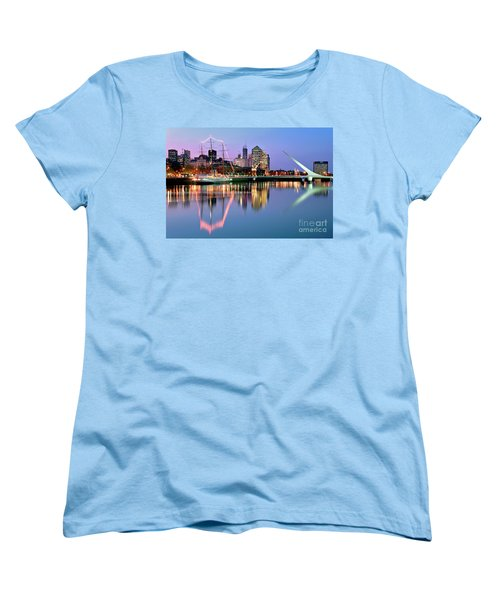 Women's T-Shirt (Standard Cut) featuring the photograph Puerto Madero I by Bernardo Galmarini