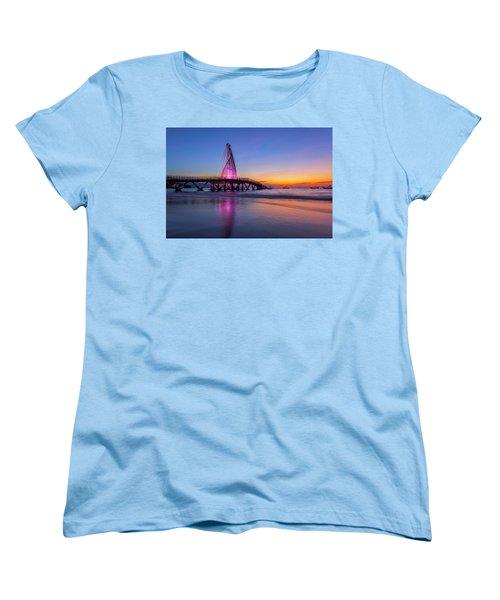 Puesta De Sol En La Playa De Los Murtos Women's T-Shirt (Standard Cut) by Edward Kreis