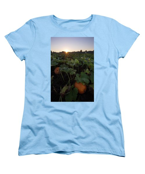 Women's T-Shirt (Standard Cut) featuring the photograph Pumpkin Patch by Aaron J Groen
