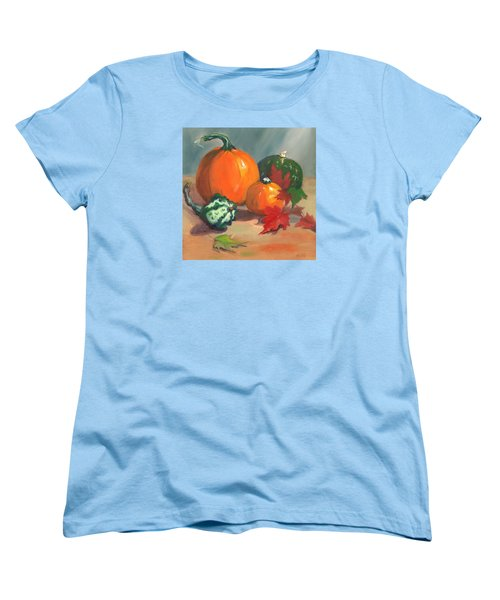 Pumpkins Women's T-Shirt (Standard Cut) by Susan Thomas