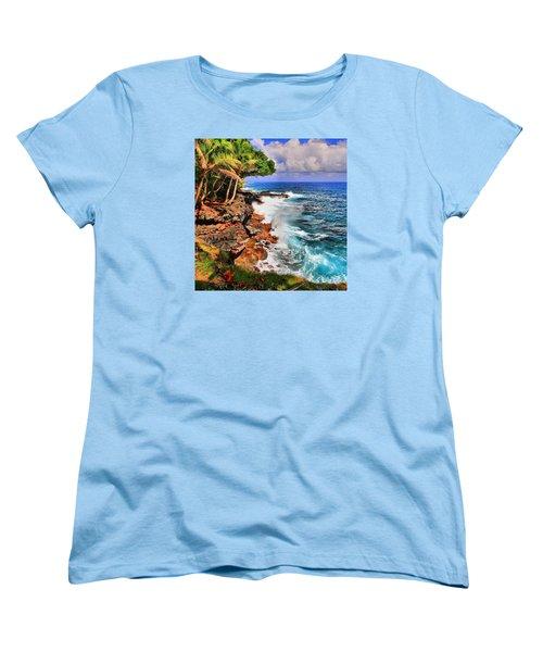 Women's T-Shirt (Standard Cut) featuring the photograph Puna Coast Hawaii by DJ Florek