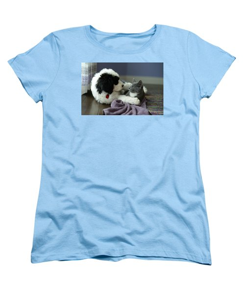 Women's T-Shirt (Standard Cut) featuring the photograph Puppy Love by Linda Mishler
