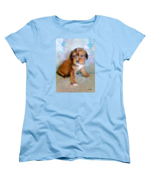 Puppy Love Women's T-Shirt (Standard Cut) by Wayne Pascall