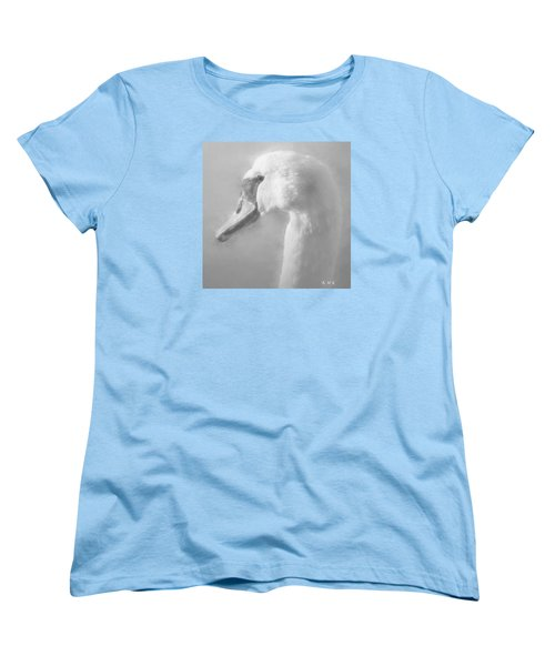 Women's T-Shirt (Standard Cut) featuring the painting Purity Bw by Rose-Maries Pictures