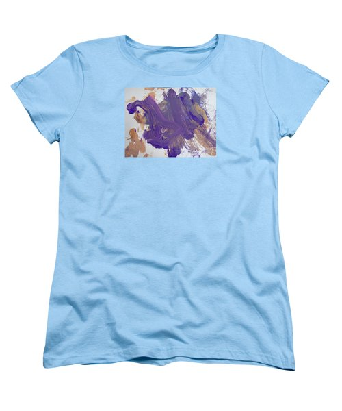 Women's T-Shirt (Standard Cut) featuring the painting Purple By Emma by Fred Wilson