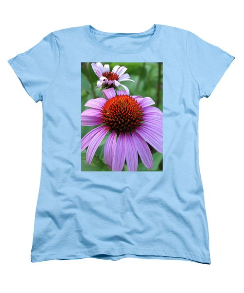 Women's T-Shirt (Standard Cut) featuring the photograph Purple Coneflowers by Rebecca Overton